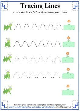 Tracing Lines Worksheets - Curved Lines - Grasshopper hops to the ...
