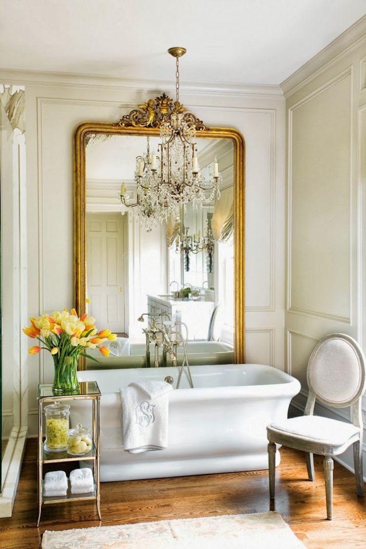 Grand miroir vintage à utiliser dans la décoration – 20 idées ...