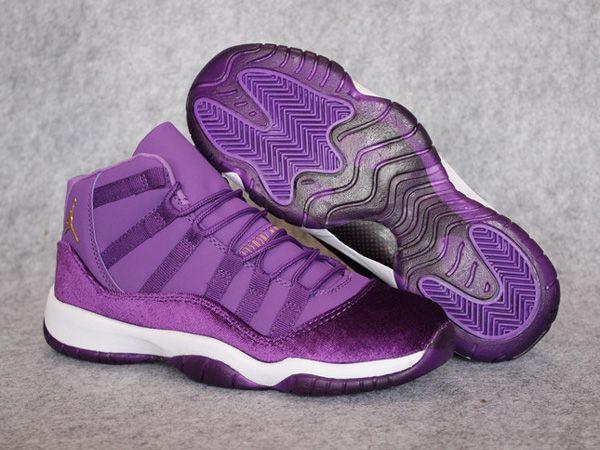 separation shoes 3c8ab 648e2 Air Jordan 11 GS Heiress Purple Gold Women Shoes,Price  48