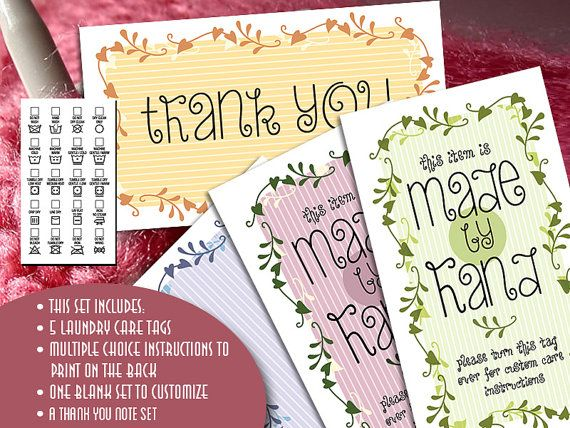 Gift or laundry care tags memory garden for yarn or fabric gift or laundry care tags memory garden for yarn or fabric crafts business card size printables self customizable tags reheart Choice Image