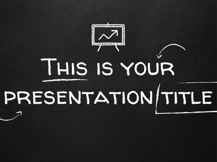 Free Powerpoint Template Or Google Slides Theme With Blackboard