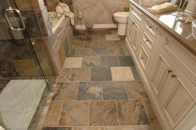 Indian Autumn Gauged Slate Tile In 2020 Slate Bathroom Tile Slate Tile Bathroom Flooring