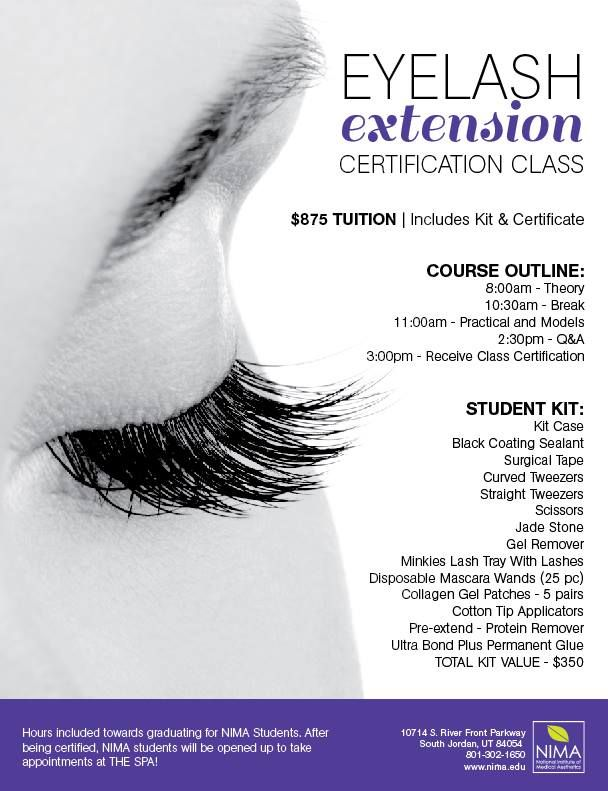 our next eyelash extension course is running january 17th!! call kat ...