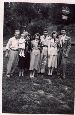 Family memories -- my grandma and pap are on the right!!