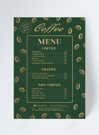 Vintage Green Cafe Menu In 2020 Cafe Menu Green Cafe Vintage Green