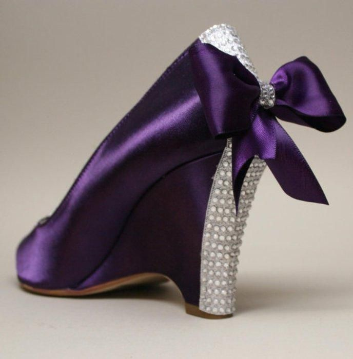 A Purple Plethora Of Y Shoes Wedge Wedding