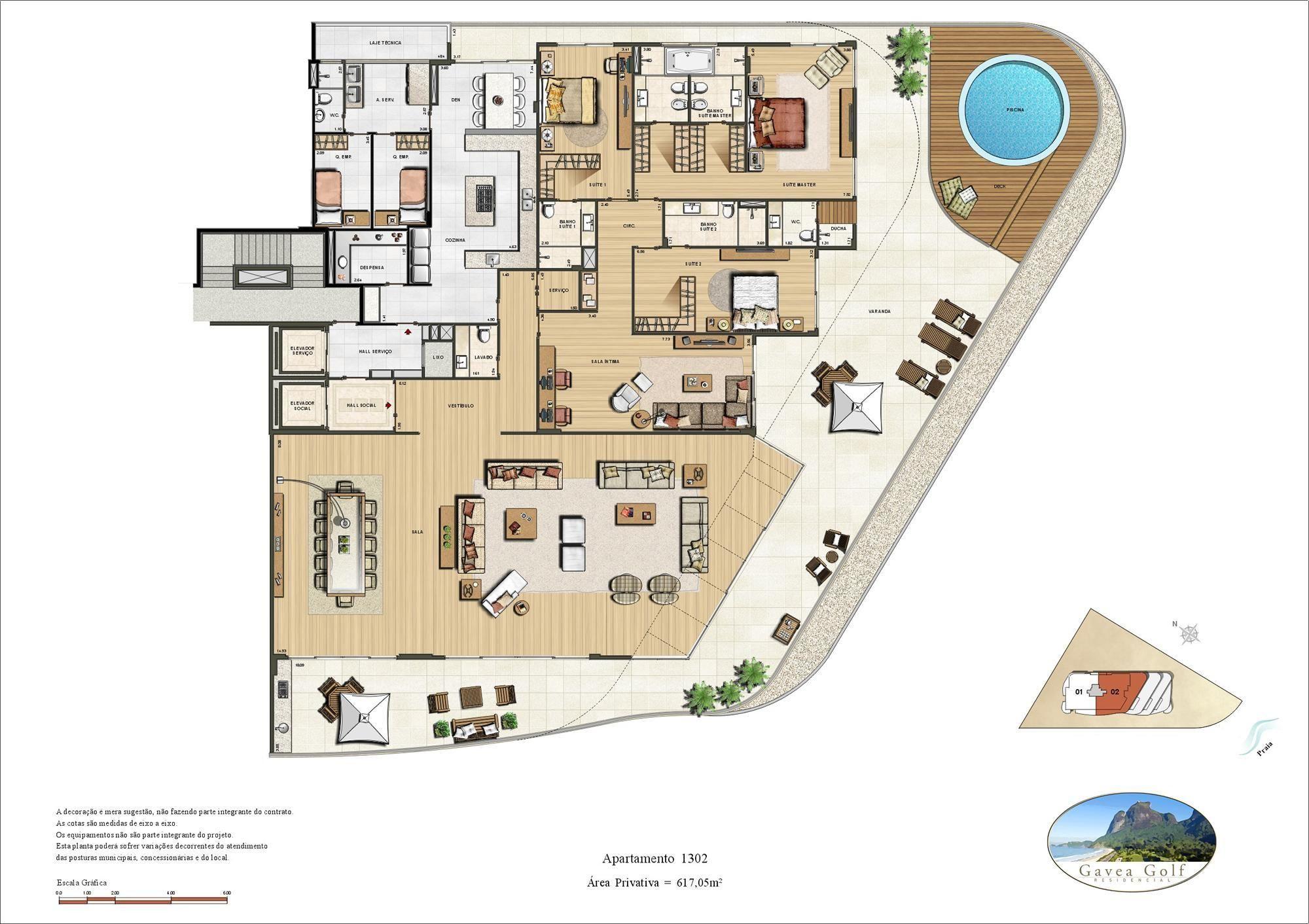 Gavea Green Residencial Penthouse 617m Sao Conrado Rio De