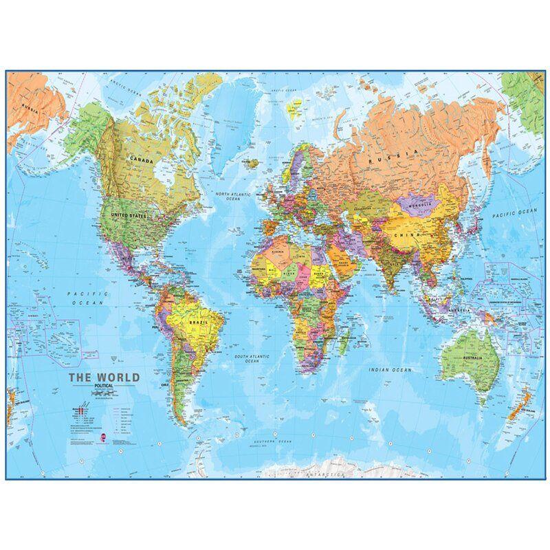 world mega map 1 20 laminated wall map in 2020 world map on laminated wall maps id=49103