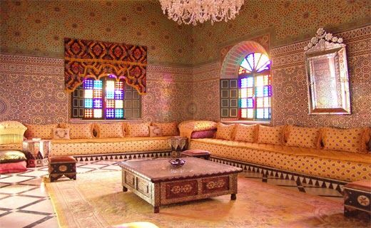Une jolie image du0027un salon marocain 2014 crée pour un palais