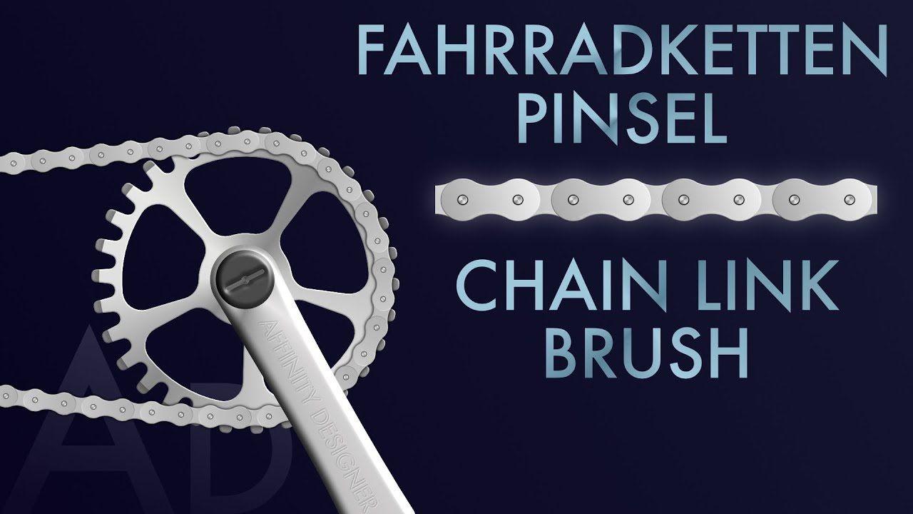 Affinity Designer Tutorial Bicycle chain image brush | Fahrradketten Bildpinsel