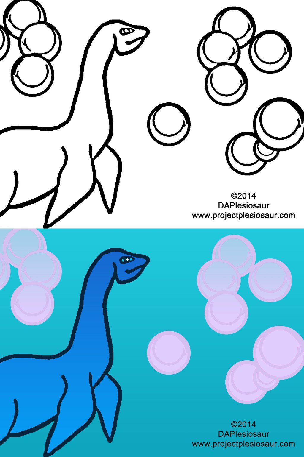 Loch Ness Monster (Nessy) Coloring Page by DAPlesiosaur.deviantart ...