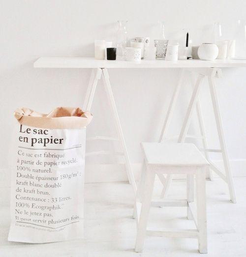 Ikea Le Papier be poles be poles le sac en papier bepoles white