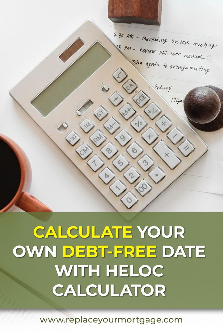 Free heloc calculator debt free paying off mortgage