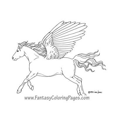unicorn pegasus coloring pages