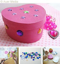 Boxes For Decoration And Crafts You Will Need  A Heart Shaped Box  Acrylic Paint  Acrylic Gem