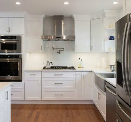 Best Galaxy Frost Cabinets By Fabuwood Combined With Stainless 400 x 300