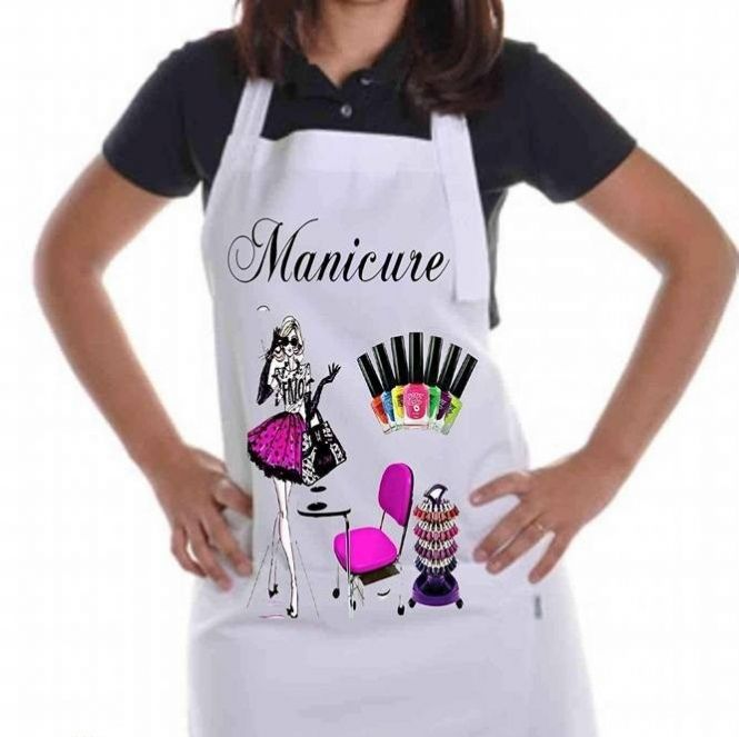 Photo of Female apron models: Kitchen apron, manicure,