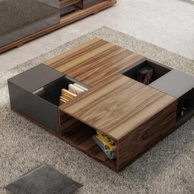 Move Coffee Table With Hidden Storage Space Contemporary