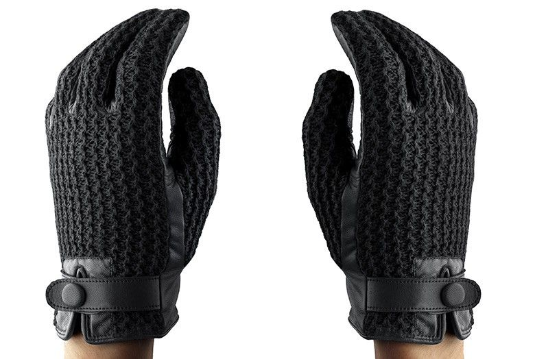 Gift idea: Leather Crochet Touchscreen Gloves | $92.72 #holidaygifts #mensfashion