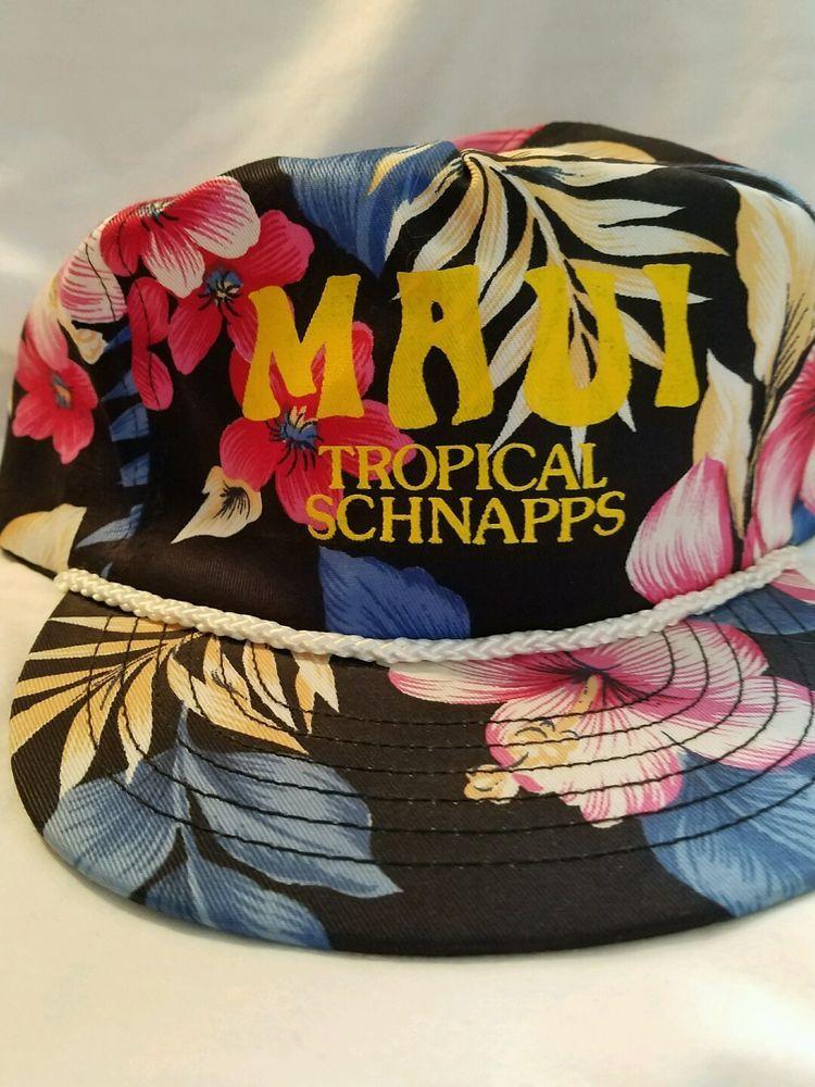 e65709e064c MAUI TROPICAL SCHNAPPS SnapBack Hat Cap Hawaiian Floral Fresh Prince Rope   SanSun  Cap