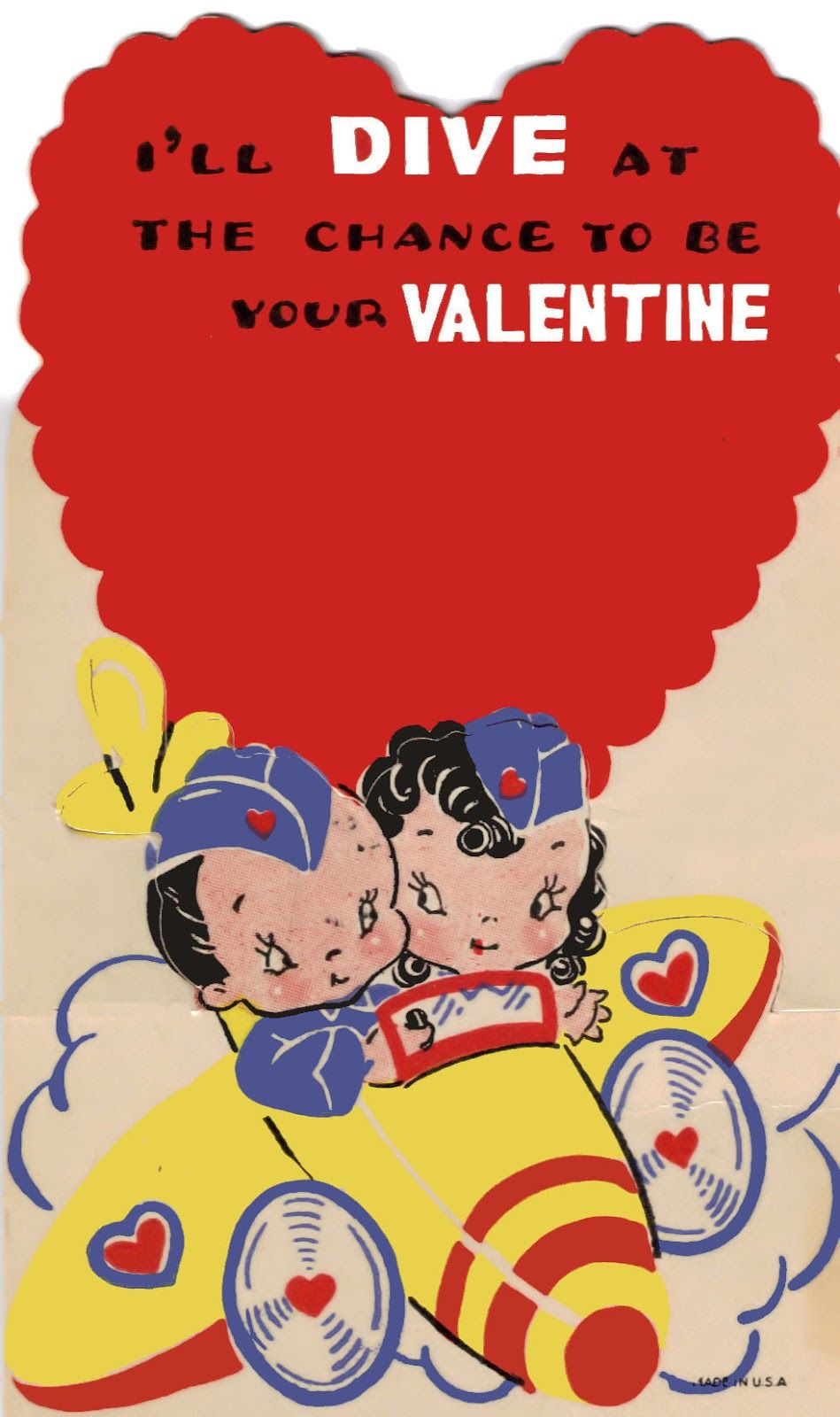 Printable Vintage Valentines  Vintage valentines