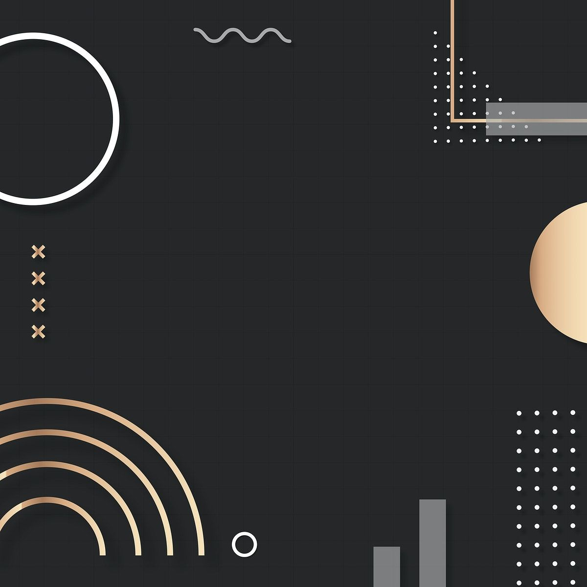 Download premium vector of Dark tone Memphis Instagram ad background vector by Kul about pattern, modern geometric black, brown aesthetic, gold vector dots, and memphis pattern wallpaper 2211712