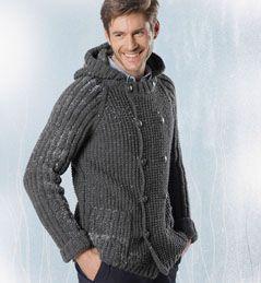 tricoter veste homme