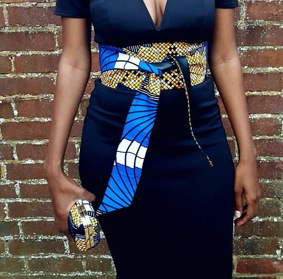 African women/'s imprimé taille haute partie jupe longue robe ceinture