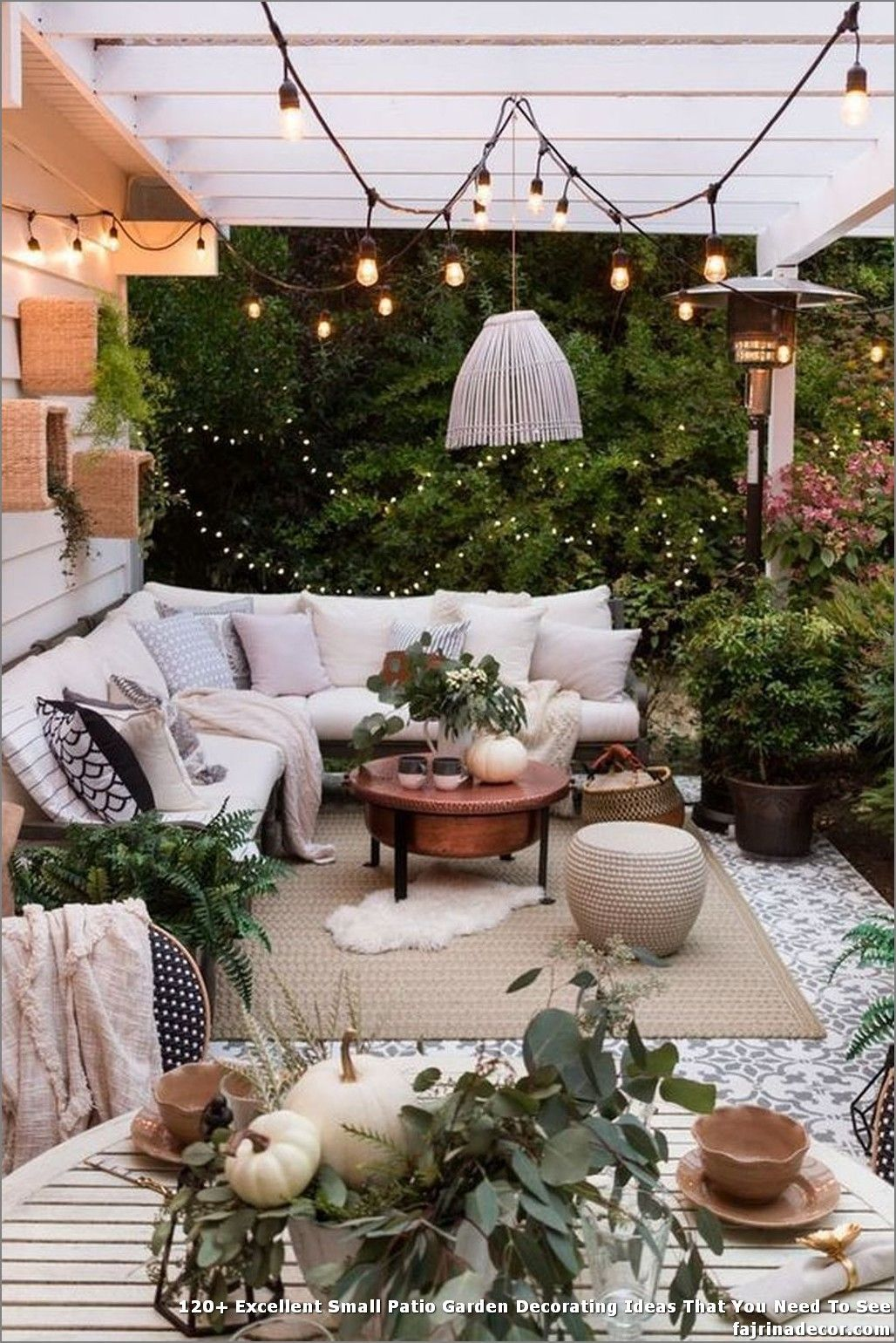 120 Excellent Small Patio Garden Decorating Ideas That You Need
