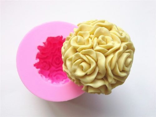 Rose-Ball-Silikonform-Fondant-Torten-Kuchen-Backform