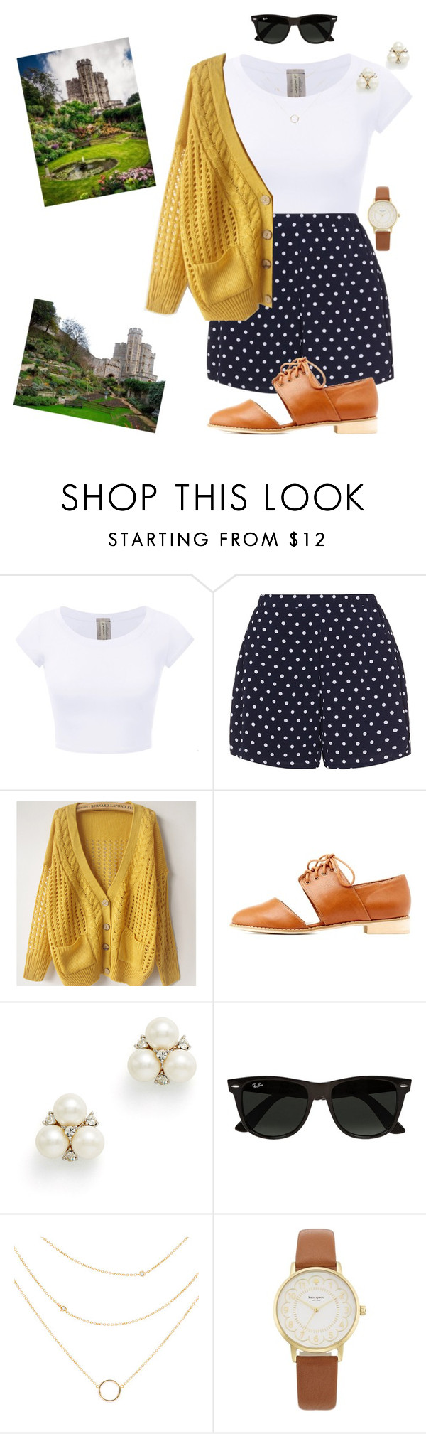 """Cardigan Day"" by mirellasandoval12 ❤ liked on Polyvore featuring Zizzi, Charlotte Russe, Ben-Amun, Ray-Ban and Kate Spade"
