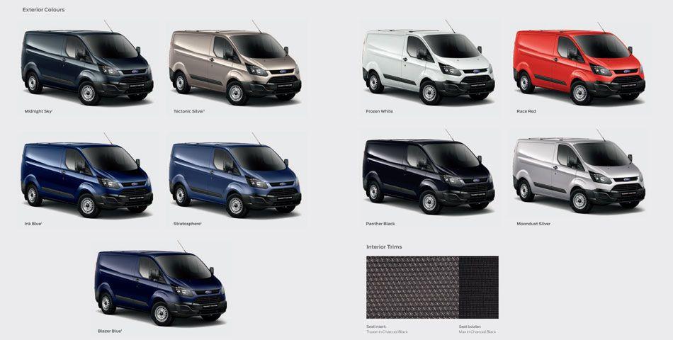 Ford Transit Custom Van Sport >> 2014-ford-transitcustom-colours.jpg (950×480) | Custom Vans | Pinterest