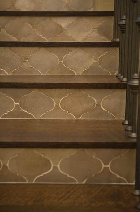 Use entryway tile on stair risers to give some continuity? Slate ...