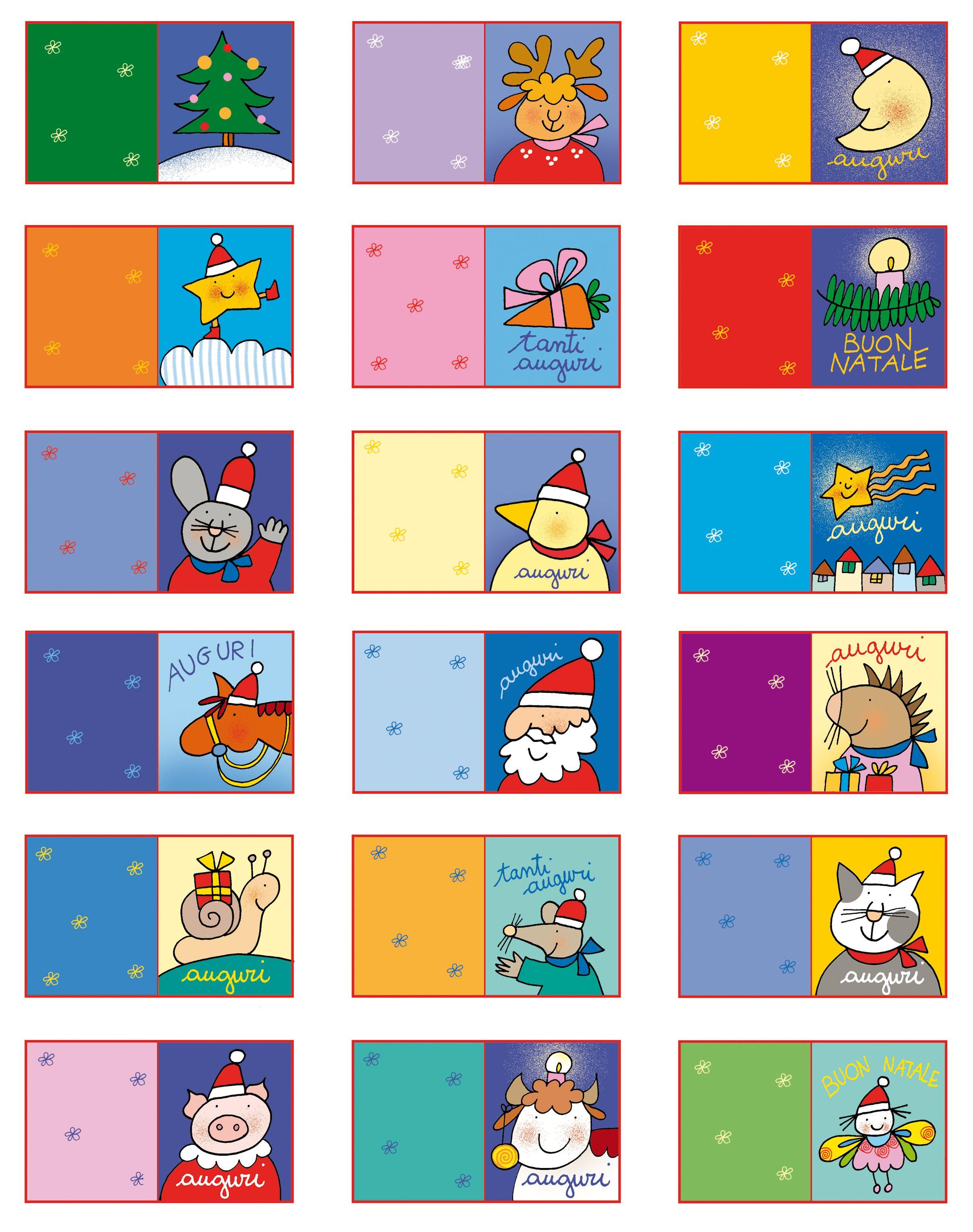 Bigliettini Natalizi Di Giulio Coniglio Draw For Baby Christmas