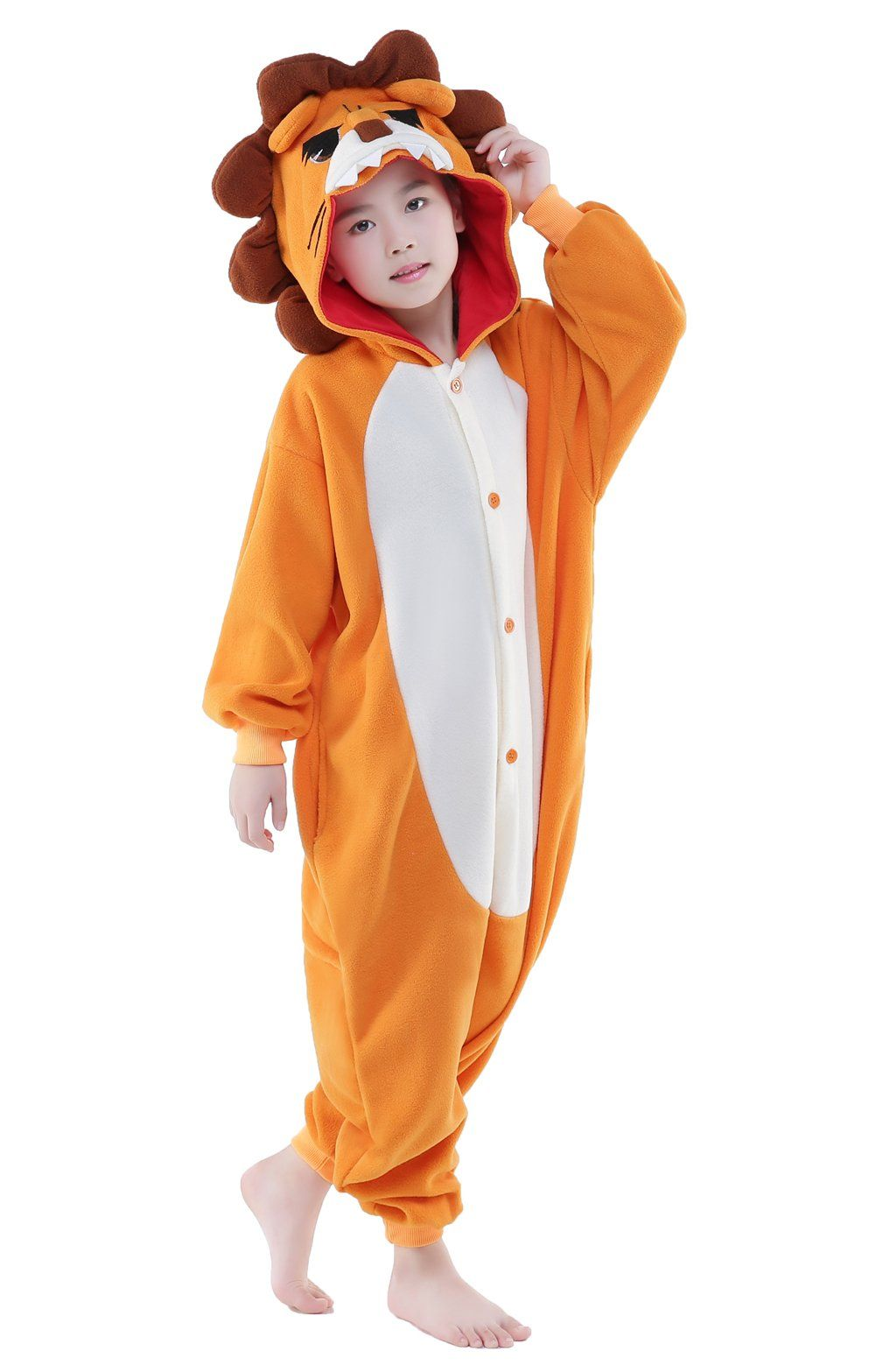 298c8ad80 Newcosplay Children Costumes Animal Onesies Sleepwear Kigurumi Pajamas Halloween  Costumes 5 for height 4547 lion >>> Click picture for more information.