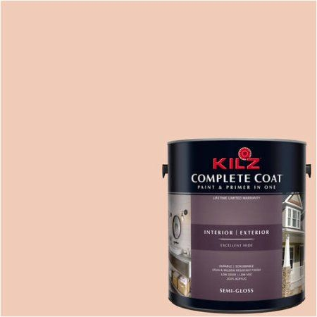Kilz Complete Coat Interior/Exterior Paint & Primer in One, #LB150-01 Gossamer Peach, Green