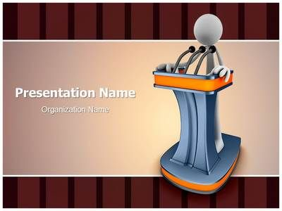 Giving Speech 3D Powerpoint Template is one of the best PowerPoint