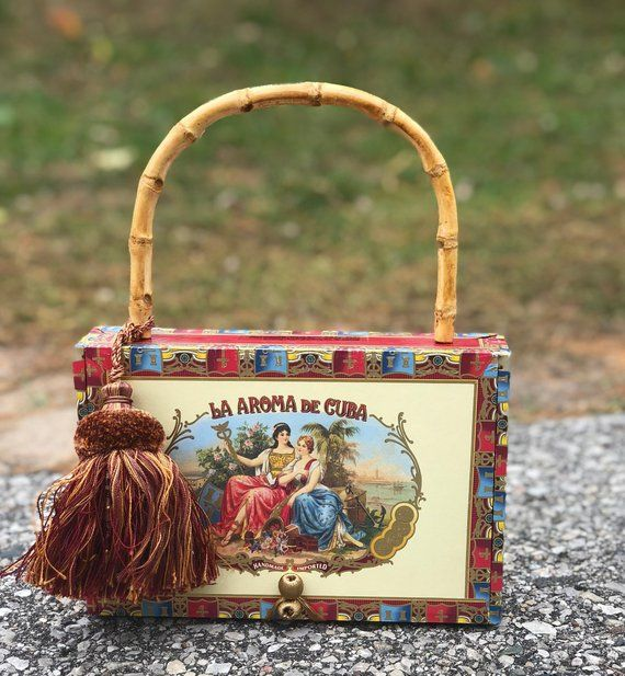 Cigar Box Purse - VLM Collection handmade by Victoria No. 17 - Little Sister fa05d89c05c81