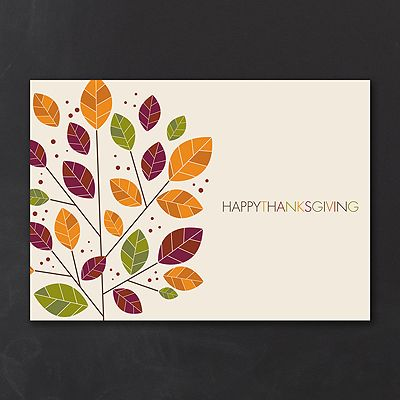 Watercolor Customer Appreciation Business Thanksgiving Cards