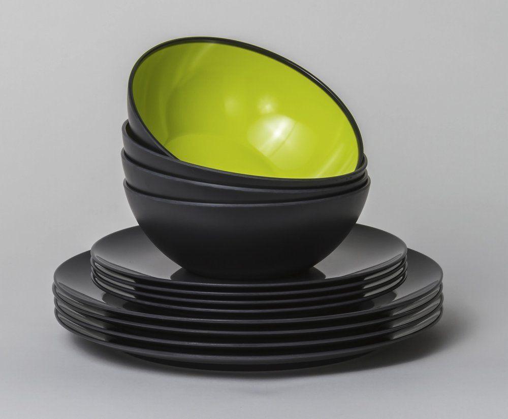 Astiasarja Grey Lemon, 12 osainen, harmaa / vihreä - vapaa-aika.com