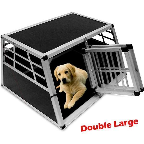 Pet Transport Crate Large Twin Carrier Heavy Duty Dog Cages Car Vehicle Travel Travellargepuppycrate Travellargedogcrat Pet Transport Dog Cages Dog Transport