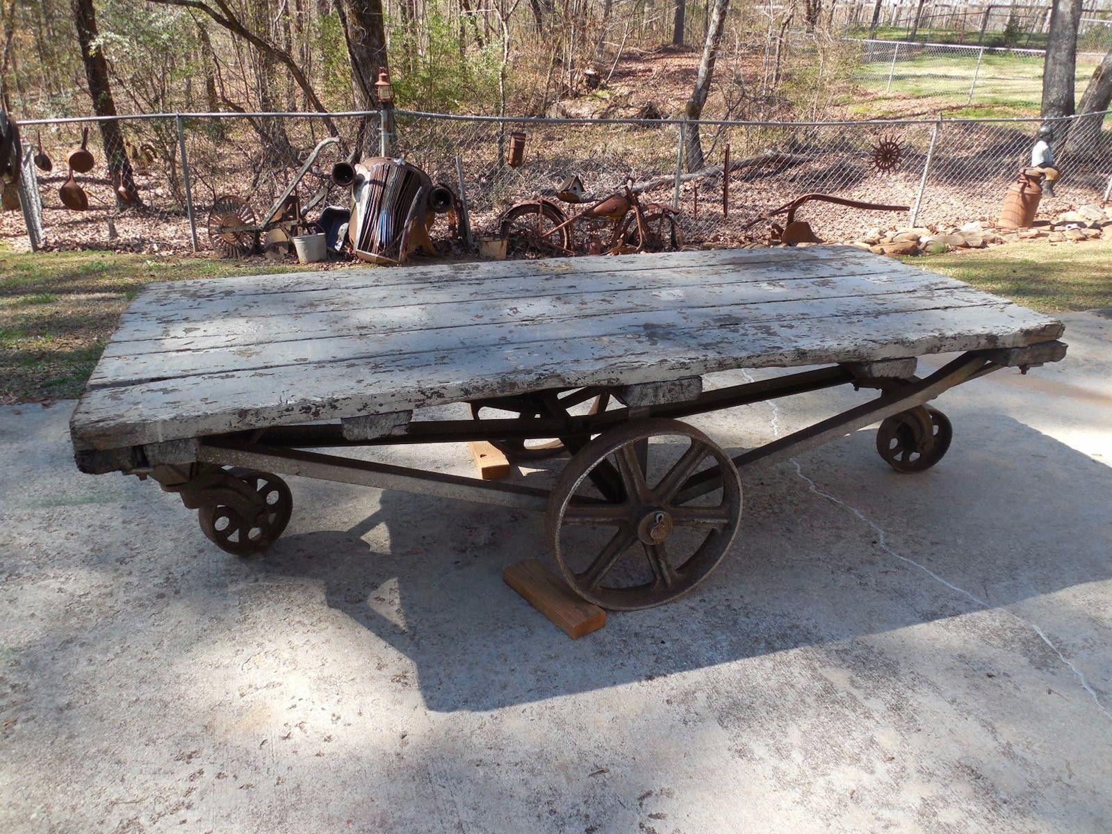 railroad depot baggage cart, large, antique | vintage games and