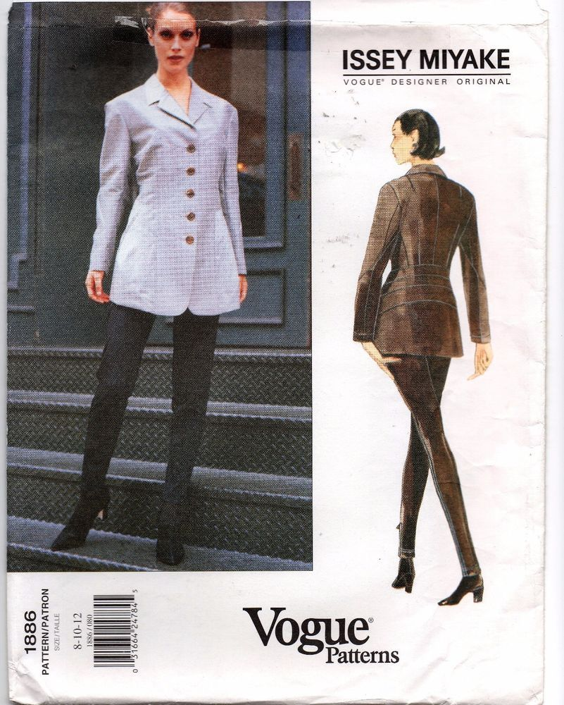 Issey Miyake Vogue Sewing Pattern 1886 Jacket and Leggings Size 8-10 ...