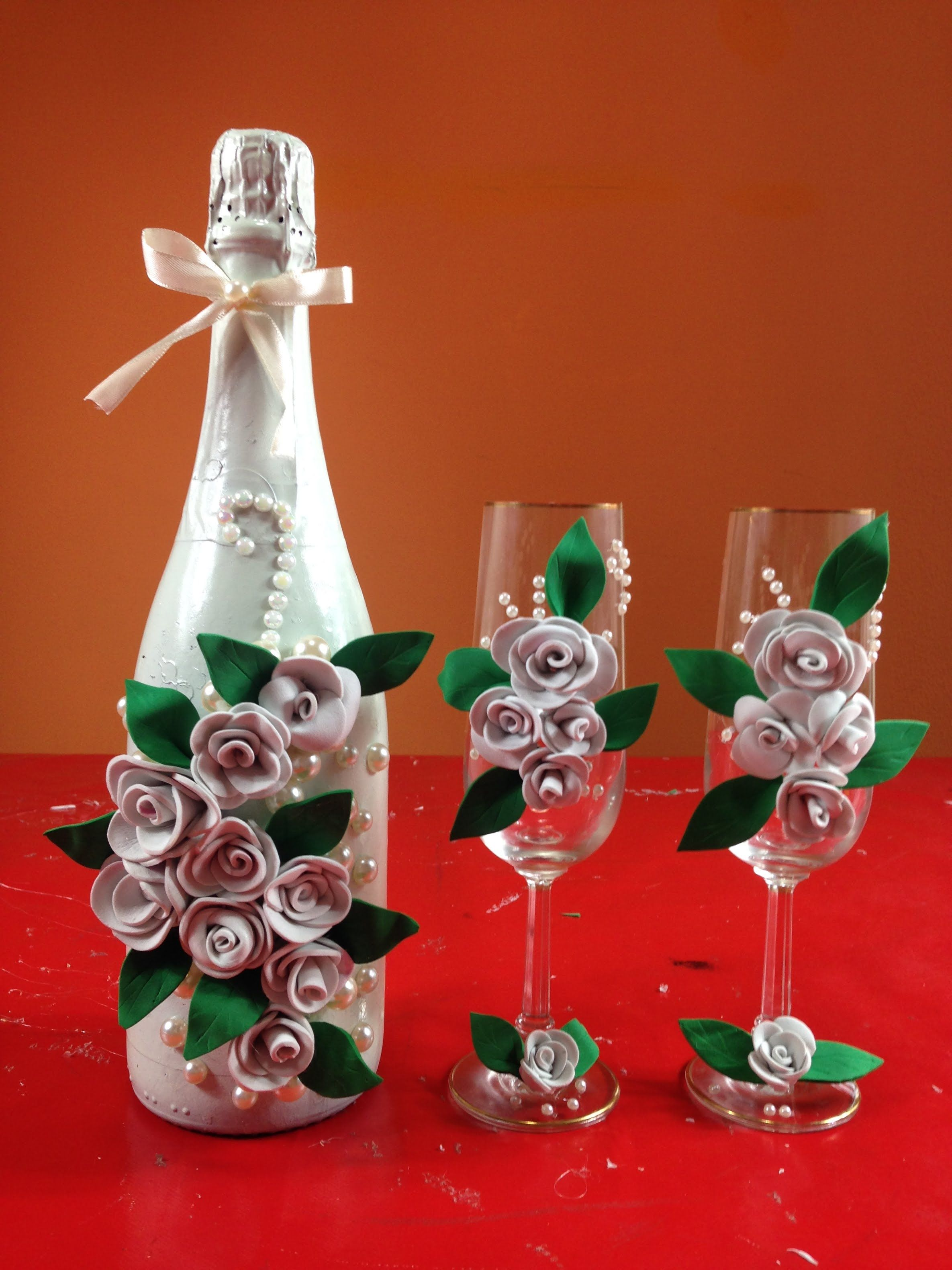 Como Decorar Una Fiesta De Matrimonio Sencilla Sencilla Decoración Botella Para Bodas Simple Bottle Decoration