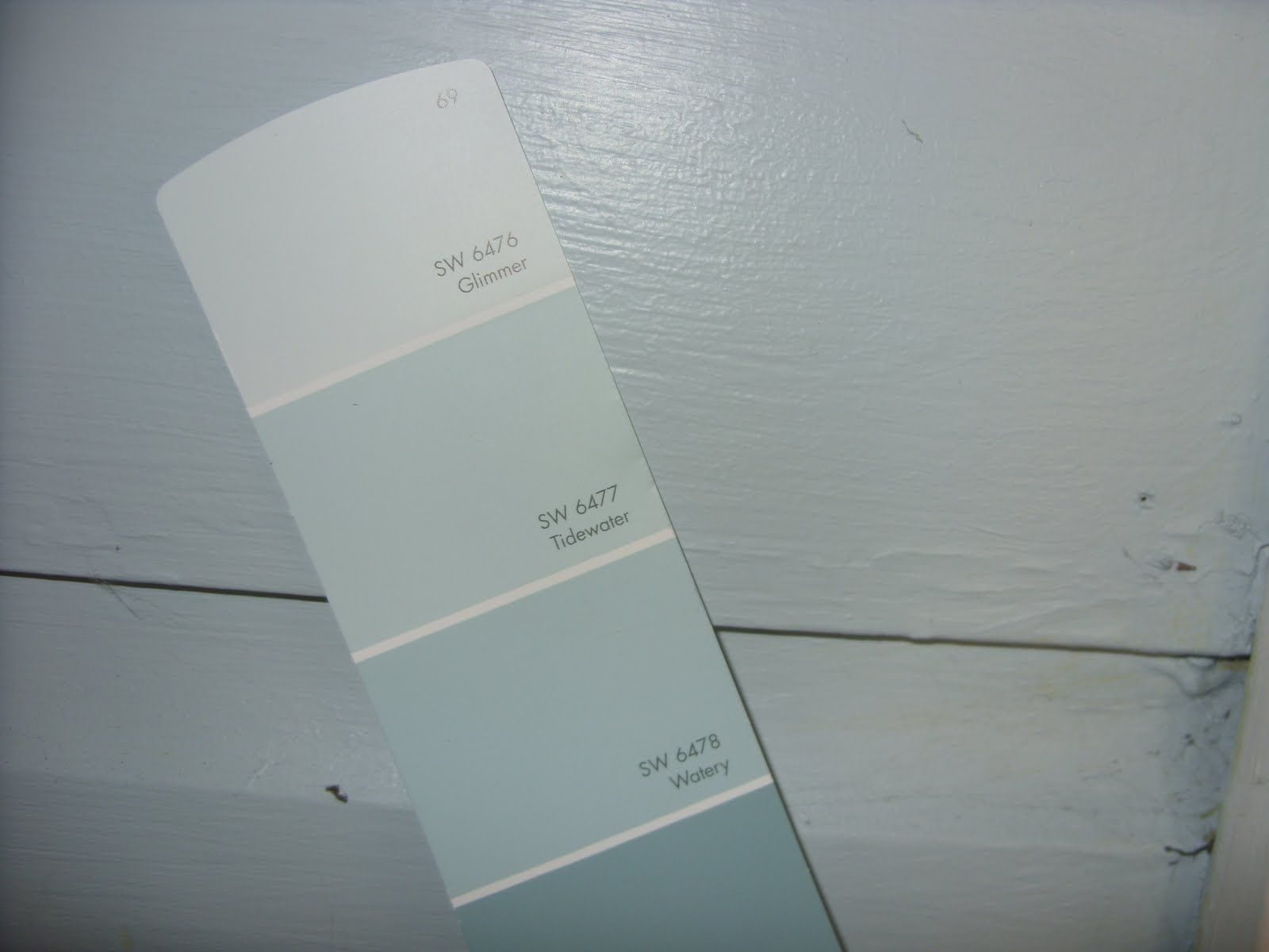 tidewater and glimmer from sherwin williams I can t wait to do