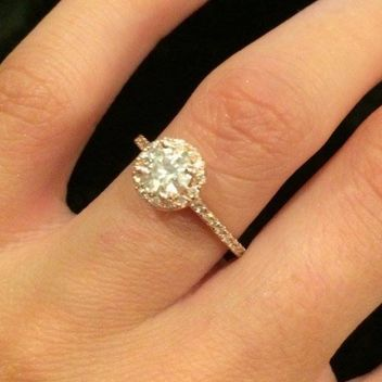 5 gorgeous real girl engagement rings to prep you for the upcoming social media storm via - Girl Wedding Rings