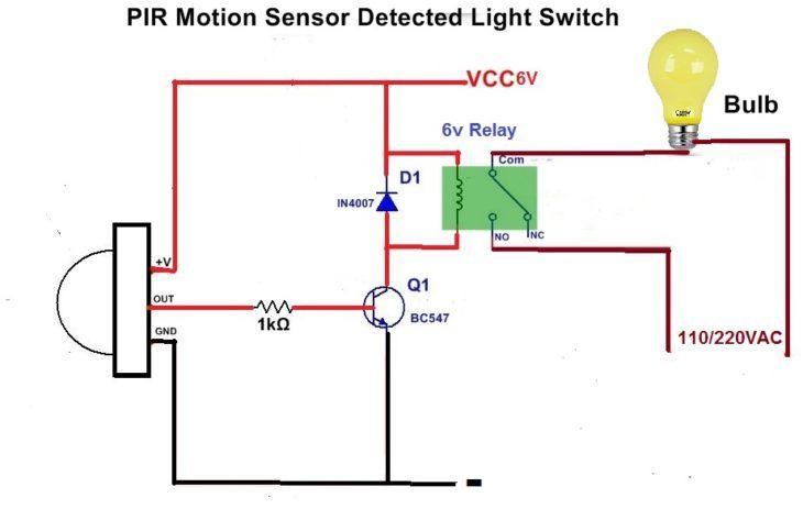 Motion Sensor Light Switch Envirementalb Com Light Sensor Motion Sensor Lights Light Sensor Circuit