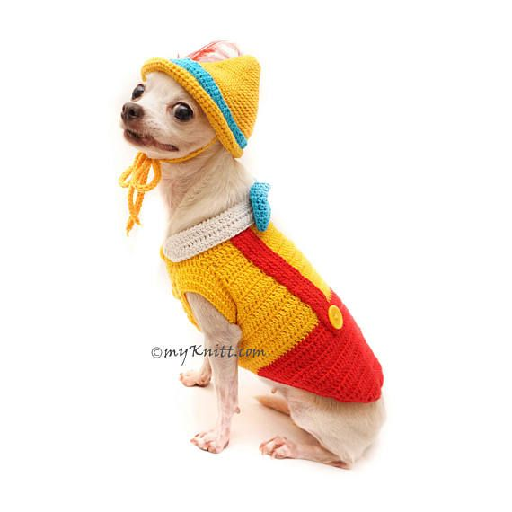 Pinocchio Costume for Dogs. Dog Halloween Costume Pinocchio with ...