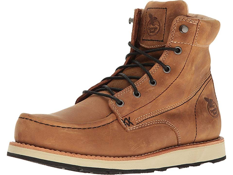 Georgia Boot Small Batch 6 Moc Toe Wedge Men S Work Boots