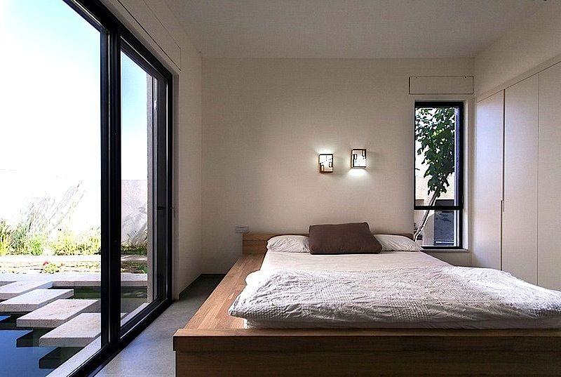 Wooden Platform Bed Minimalist Bedroom Design Modern House Design Modern Houses Interior Contemporary Bedroom Modern house bedroom design